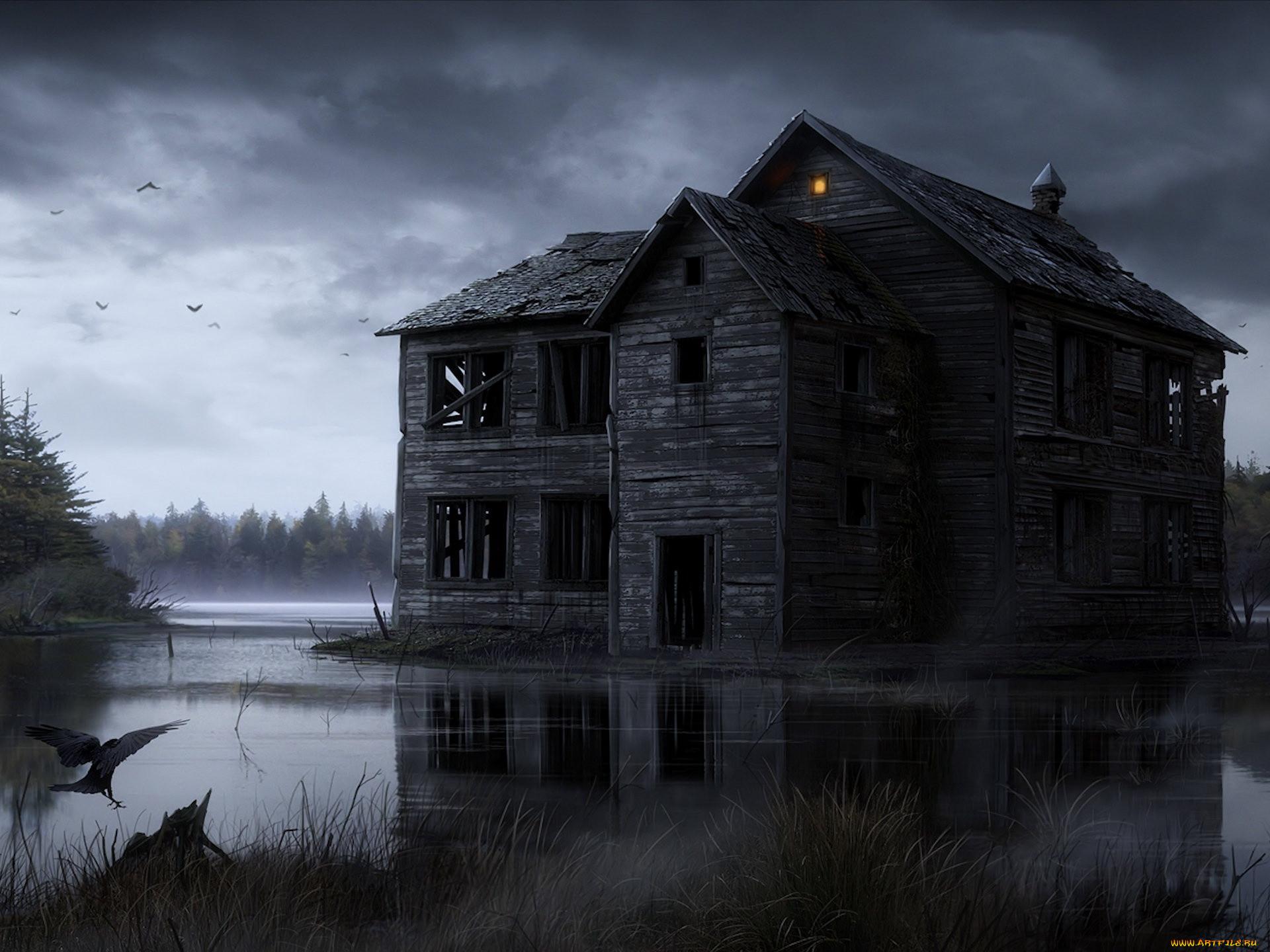 Фото старых домов в лесу 3